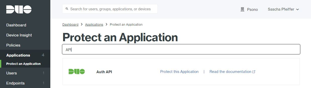 Step 3 Select Auth API