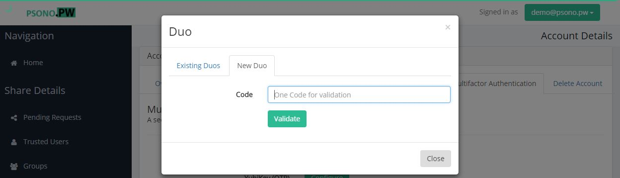 Step 8 Validate Duo