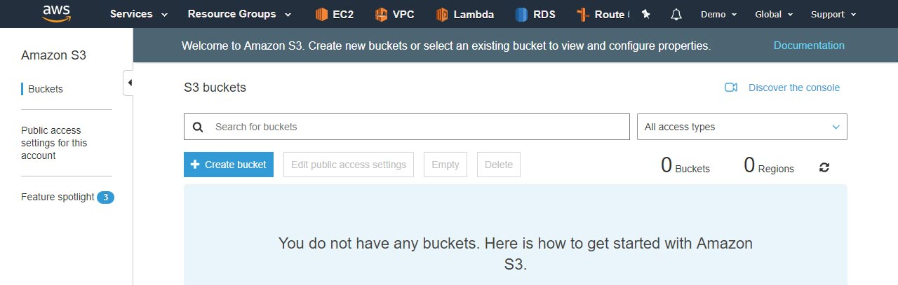 Step 3 Create bucket