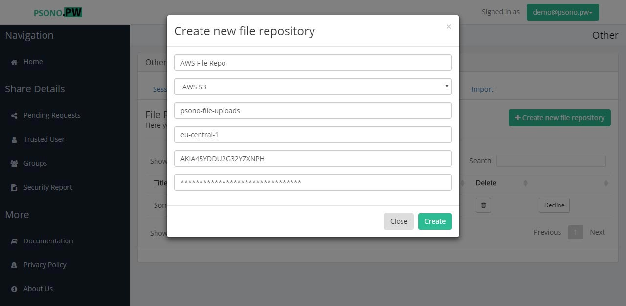 Step 16 Configure the file repository